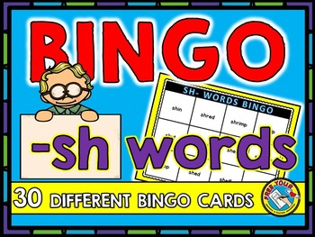 BINGO: -SH WORDS BINGO