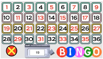 BINGO - SLOPE (Smart Notebook Version) + 24 BINGO MATS