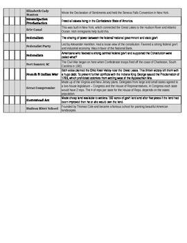 BINGO SS STAAR Review #1 - CALLOUT SHEET
