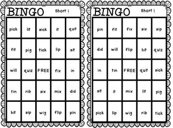 BINGO: Short i
