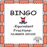 Equivalent Fractions BINGO Number Sense