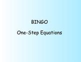 BINGO - Solving One Step Equations