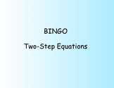 BINGO - Solving Two Step Equations