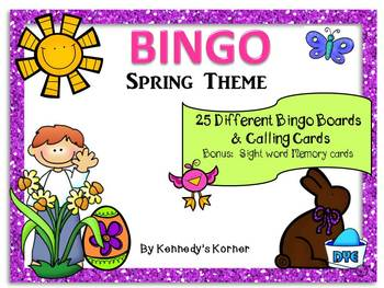 BINGO ~ Spring Theme ~ Memory Game included
