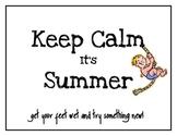 BINGO Summer Calendar