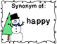 Winter BINGO - Synonyms and Antonyms