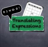 BINGO Translating Algebraic Variable Expressions and Word Phrases