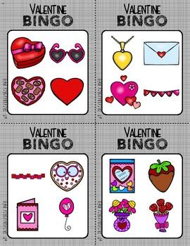 BINGO: Valentine's with Clipart | 2x2
