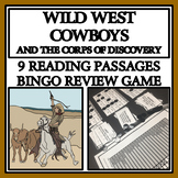 WILD WEST COWBOYS AND THE CATTLE DRIVE - Reading Passages and Bingo