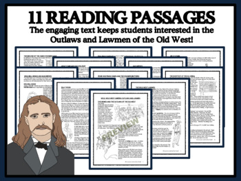 READING PASSAGES AND BINGO - Wild West: Outlaws and Lawmen