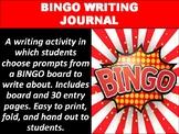 BINGO Writing Journal