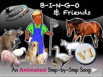 B-I-N-G-O & Friends - Animated Step-by-Step Song - VI