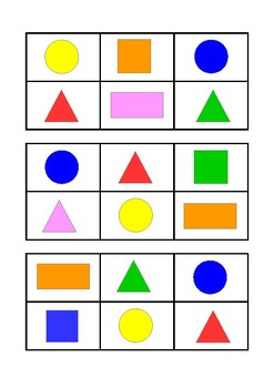 BINGO couleurs et formes