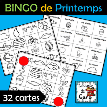 BINGO de PRINTEMPS - 32 CARTES