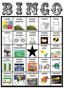 BINGO de la Energía (Energy BINGO - Spanish)
