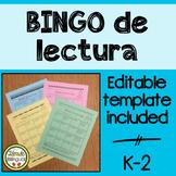 BINGO de lectura Reading Log in Spanish