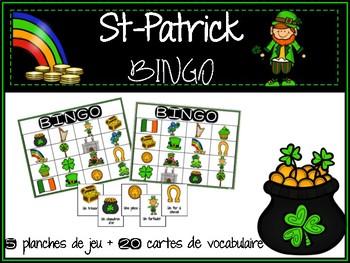 BINGO de vocabulaire pour la St-Patrick French BINGO