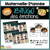 BINGO des ÉMOTIONS - French emotions BINGO