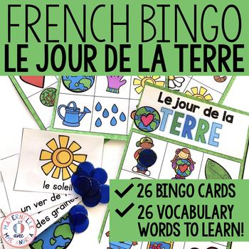 BINGO en français - Le jour de la Terre (FRENCH Earth Day Bingo)