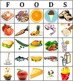 BINGO - food (ESL, Spanish, French, etc.)