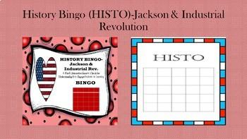 BINGO for History (HISTO)-Jackson & Industrial Revolution