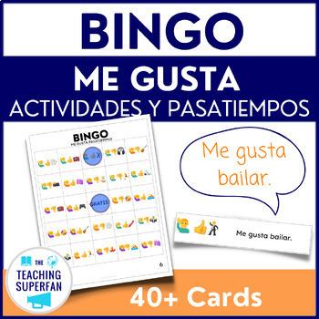 Spanish Me gusta Pasatiempos Bingo using Emoji Puzzles