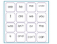 BINGO game for SIPPS Beginning Lessons 1-20 Sight words