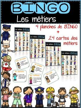 BINGO les métiers / French community helpers