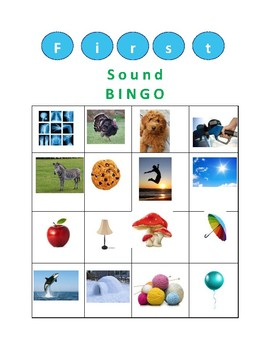 BINGO using first sound and ending sound