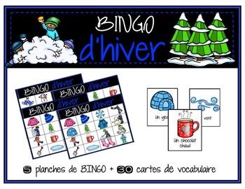 BINGO - vocabulaire d'hiver