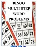 BINGO with Multi-Step Word Problems