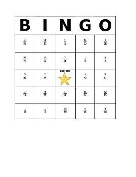 BINGO with Multiplying Fractions