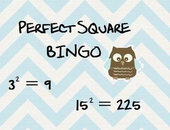 BINGO with Perfect Squares!