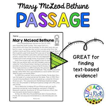 BINGO with a Purpose: Mary McLeod Bethune