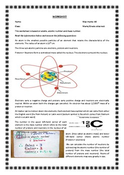 BIO CHEMISTRY ATOMS