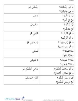 BIO INFO PHRASES (ARABIC)