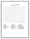 BIOGRAPHICAL WORD SEARCH OF ISAAC NEWTON GRADES 3-7