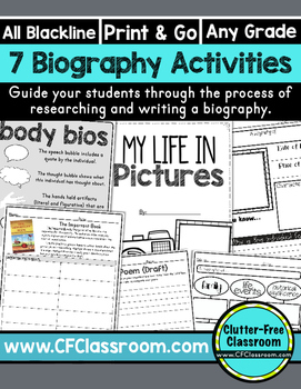 BIOGRAPHY ACTIVITIES |  BIOGRAPHY PROJECT | BIOGRAPHY REPORT | AUTOBIOGRAPHY