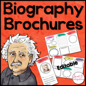 BIOGRAPHY BROCHURE - Editable PowerPoint and Google Slides