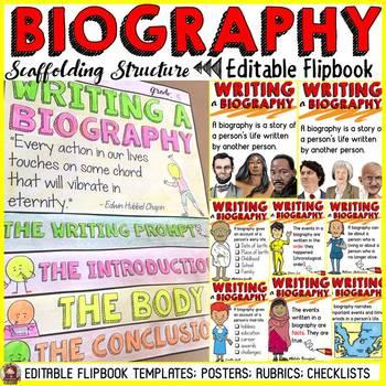 BIOGRAPHY: FLIPBOOK/INTERACTIVE NOTEBOOK ORGANIZER: EDITABLE