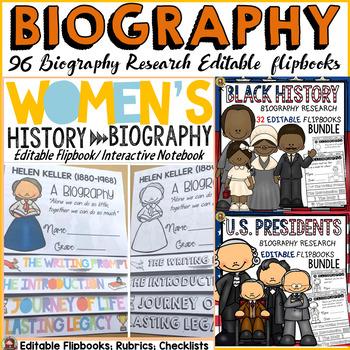 BIOGRAPHY FLIPBOOKS: U.S. PRESIDENTS: BLACK HISTORY: WOMEN'S HISTORY