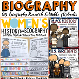 BIOGRAPHY FLIPBOOKS: U.S. PRESIDENTS: BLACK HISTORY: WOMEN'S HISTORY