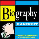 BIOGRAPHY GUIDE: HANDOUT