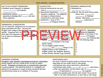 Biological classification teaching resources teachers pay teachers biology classification presentation and guided notes biology classification presentation and guided notes malvernweather Choice Image
