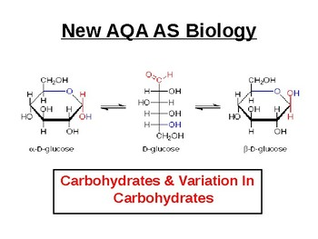 BIOLOGY - Carbohydrates & Variation In Carbohydrates.