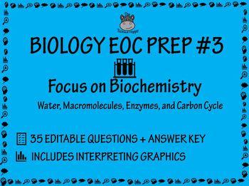 Eoc Biology Test Prep Worksheets Teachers Pay Teachers