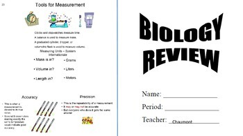 Updated (2015) BIOLOGY End of Course REVIEW BOOKLET
