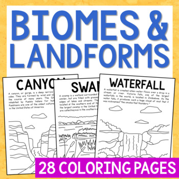 Biomes And Landforms Posters Coloring Pages Easy Craft Activities