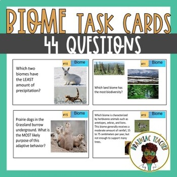 BIOME TASK CARDS