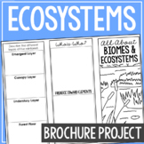 BIOMES & ECOSYSTEMS: Earth Science Research Brochure Templ